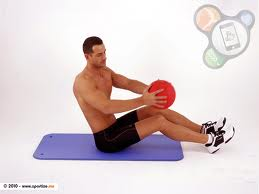 ab crunches with med ball