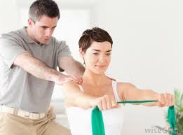 Image of a shoulder massage being performed